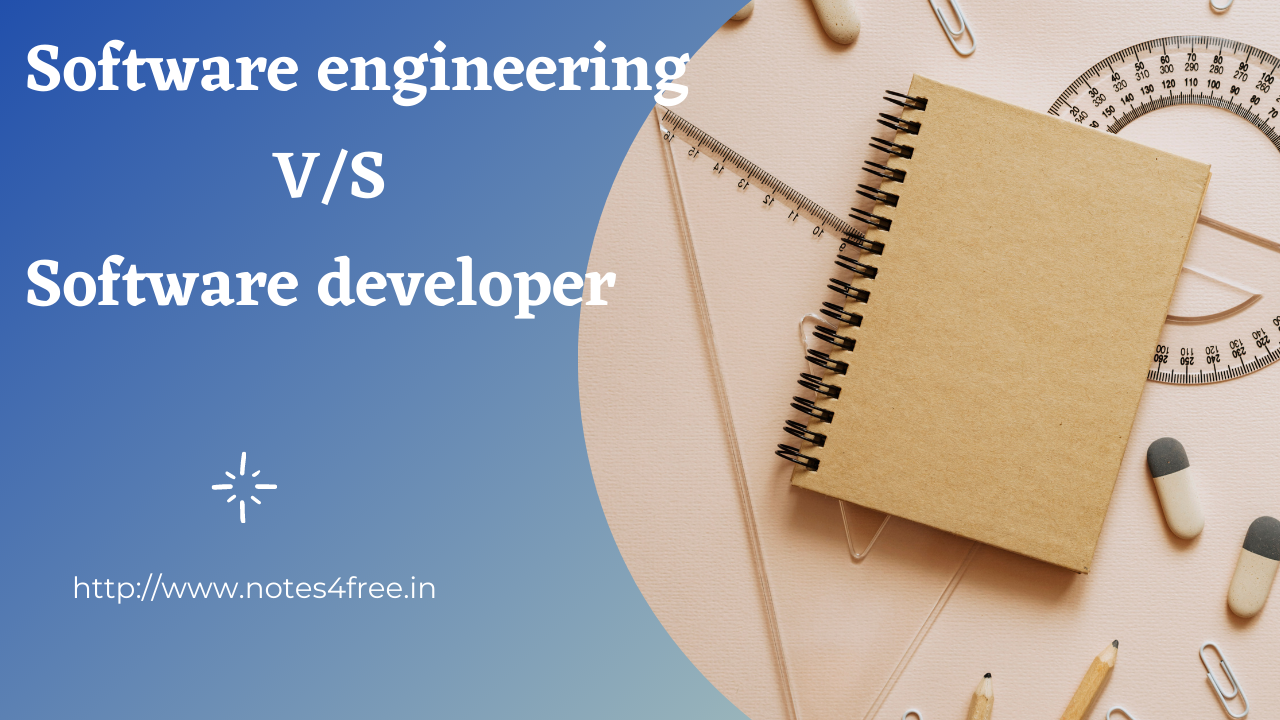 Software developers vs Software engineering what is differences