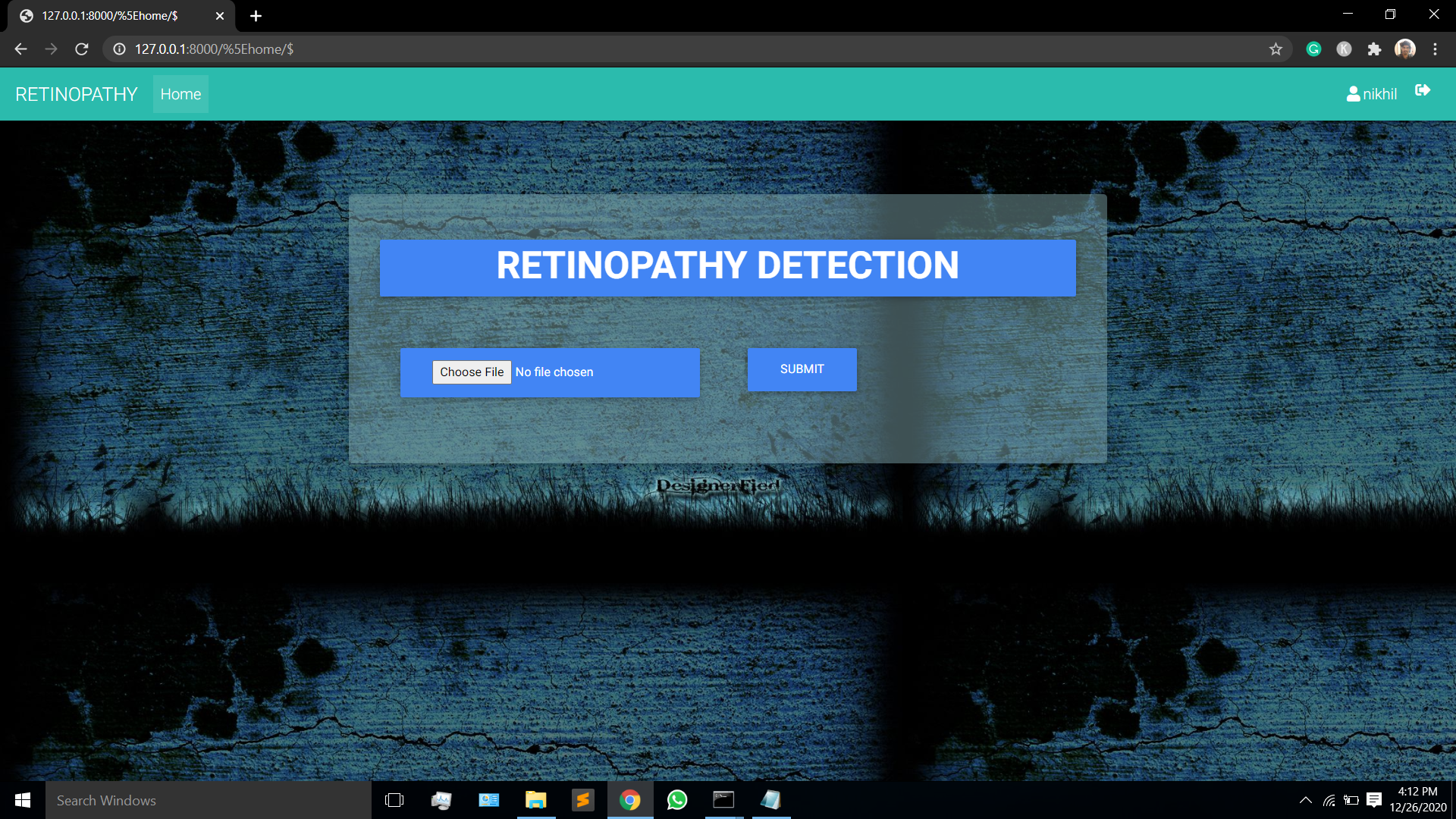 Prediction of Diabetic Retinopathy Using svm algorithm